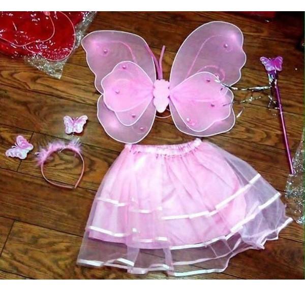 Áo cánh bướm thiên thần có đèn led cho bé vui trung thu