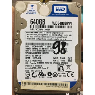 Ổ cứng 640Gb, HDD 640Gb laptop sk 90-99%