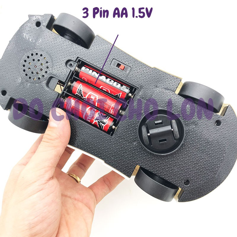 Đồ chơi xe ô tô Police mở cửa chạy pin đèn Led 3D nhạc 500-23 - KhaDiTOYS