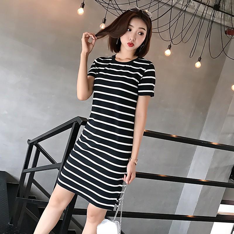 Váy Suông Kẻ Ngang