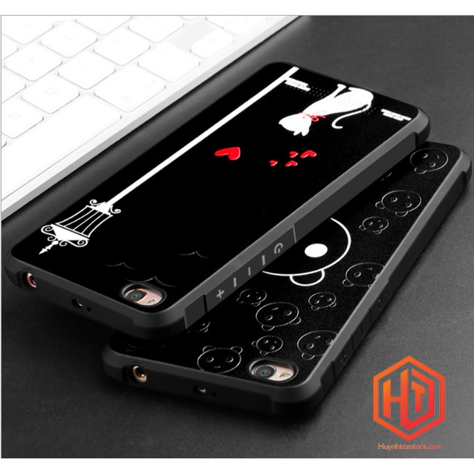 Xiaomi Redmi 5A _ Ốp chống sốc cao su in 3D nổi chính hãng Cocose