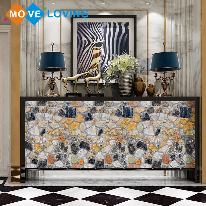 Sticker dán tường họa tiết hiện đại theo phong cách hiện đại dùng trong trang trí phòng khách