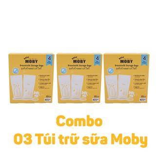 Combo 03 Túi trữ sữa Moby Thái Lan