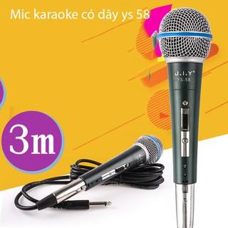 Mic có dây, Mic karaoke có dây YS 58 giảm tạp âm, Chống nhiễu, Chống hú, Chống rè - SẢN PHẨM CHẤT LƯỢNG CAO GIÁ TỐT thumbnail