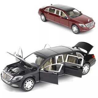 Kids Toys Car Flash and Music Lengthen Alloy Metal Pull Back Vehicles Toys 1:24 Simulation Toys Car