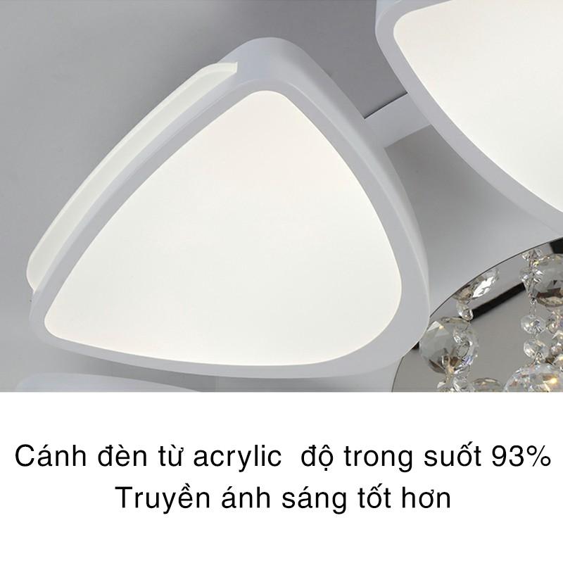 Đèn Led Ốp Trần - Đèn Áp Trần Trang Trí Pha Lê A2 3 Chế Độ Sáng Kèm Điều Khiển Từ Xa Trang Trí Phòng Khách