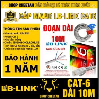 Đoạn dài 10m - Dây cáp mạng Lb-Link Cat6 – Bấm sẵn 2 đầu – Cắt từ cuộn tiêu chuẩn – Chính hãng LB-LINK