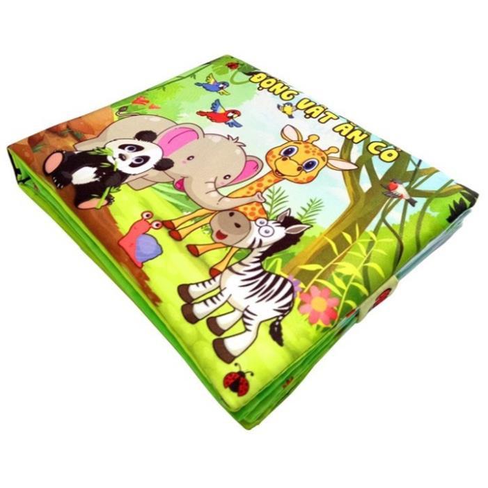 [SALE SẬP SÀN] ComBo 3 Sách Vải Giáo dục mầm non-Chủ đề Động Vật-Dành cho bé Sơ Sinh-kích thích IQ-Trí...