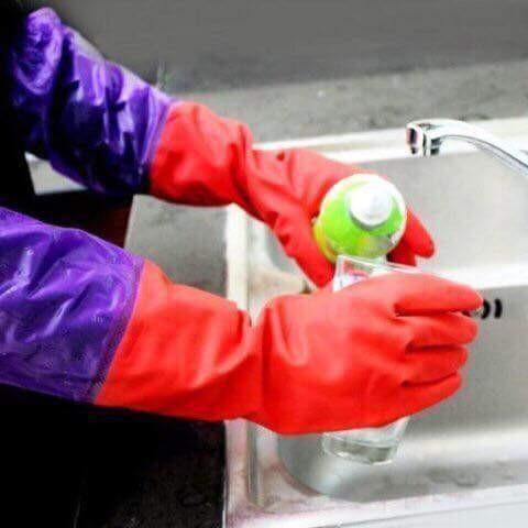 Găng tay rửa bát lót nỉ