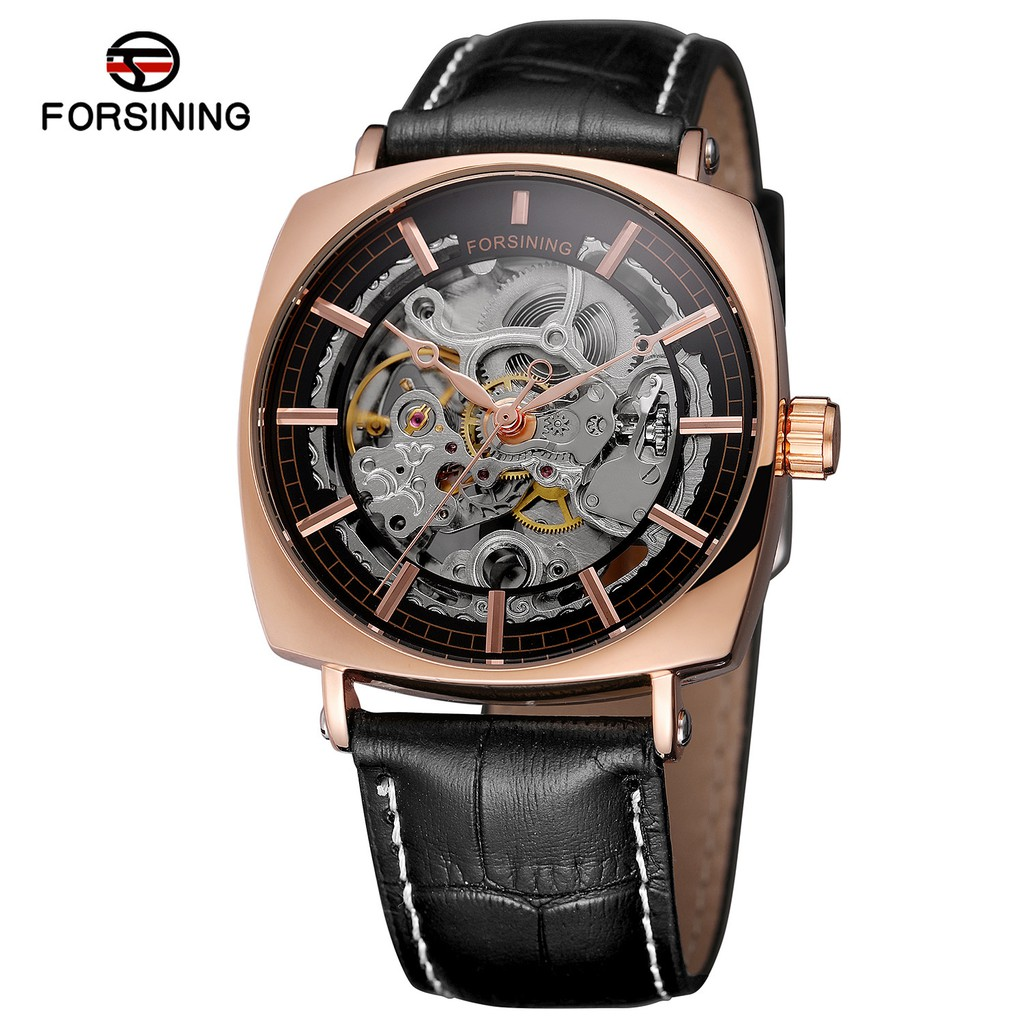 Đồng hồ cơ nam Forsining 242-G dây da lộ máy