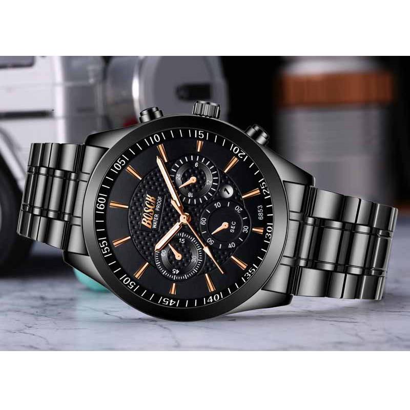 Đồng hồ nam rẻ đẹp BOSCK chính hãng, lên tay tuyệt đẹp, kính chống trày xước tốt ( Tặng tỳ hưu, tháo mắc, Mã: AB05 )