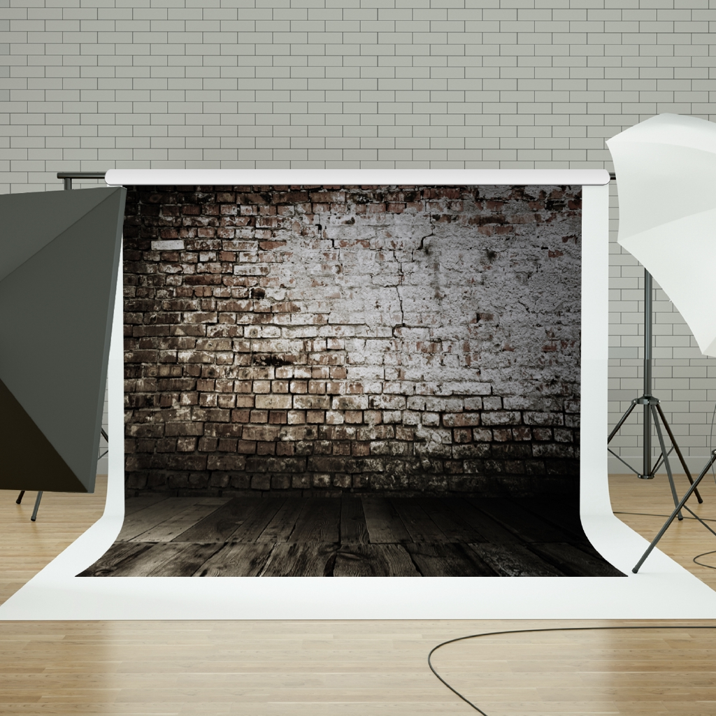 Old Black White Brick Wall Photo Backgrounds Wall Photography Backdrops Photobooth Photo Studio