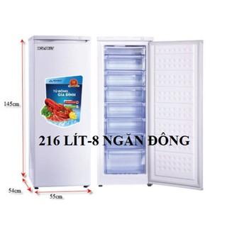 Tủ đông Hòa Phát 216l 8 ngăn, like new