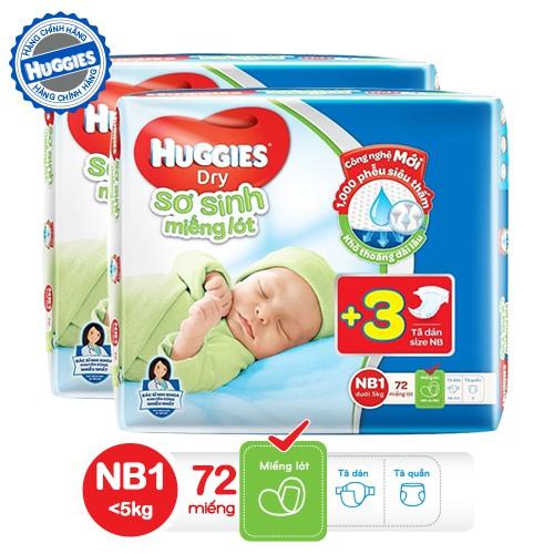 [QUÀ] Combo 2 Gói Miếng lót sơ sinh Huggies Newborn 1 (0-5kg) N72 (72 miếng)-Tặng 3 miếng dán sơ sin - 3405072 , 724840693 , 322_724840693 , 194000 , QUA-Combo-2-Goi-Mieng-lot-so-sinh-Huggies-Newborn-1-0-5kg-N72-72-mieng-Tang-3-mieng-dan-so-sin-322_724840693 , shopee.vn , [QUÀ] Combo 2 Gói Miếng lót sơ sinh Huggies Newborn 1 (0-5kg) N72 (72 miếng)-Tặn