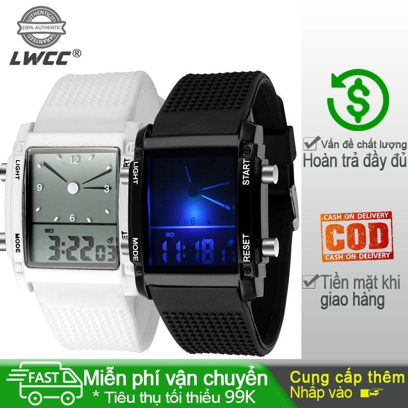 Đồng hồ dạ quang đầy màu sắc sáng tạo màn hình kép đồng hồ điện tử LED đồng hồ thể thao