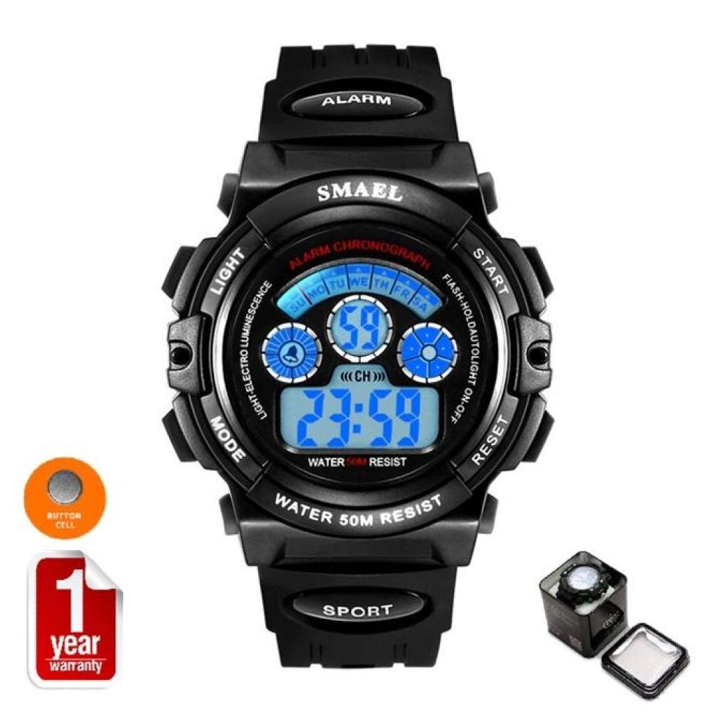 SMAEL นาฬิกาข้อมือเด็ก Sport Digital LED ระบบแสดงตัวเลข รุ่น SM0508D NEW พร้อมกล่องเหล็ก SMAEL เท่ห์MAEL นาฬิกาข้อมือเด็