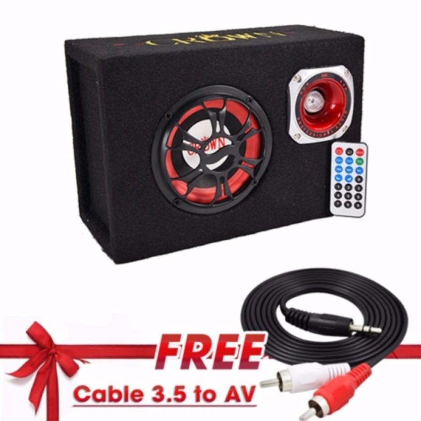 Loa Crown cỡ số 5 hình chữ nhật, nghe nhạc thẻ nhớ, usb + Tặng kèm Cable 3.5 to AV