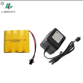 Pin và sạc xe điều khiển từ xa 4.8v 700mah