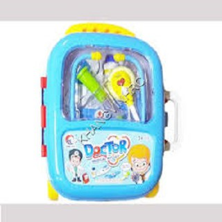 Đồ chơi valy kéo bác sỹ dùng pin có đèn, đồ chơi dụng cụ khám bệnh, DO CHOI BAC SY