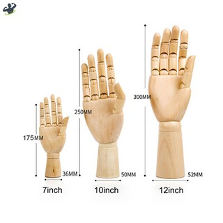 LL Wooden Left/Right Hand Body Artist Model Jointed Articulated Wood Sculpture Mannequin @MY