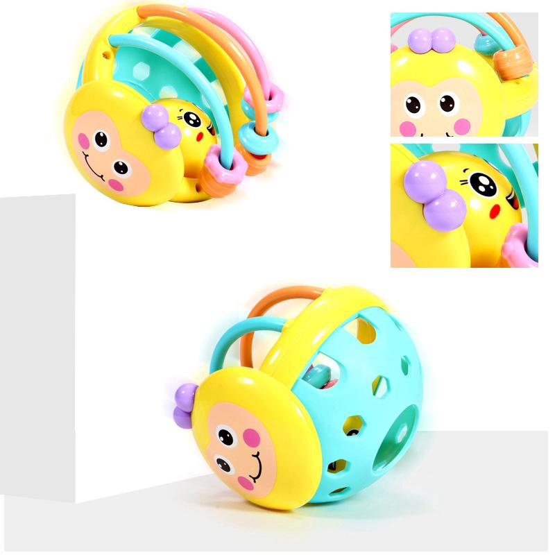 Bee Soft Teether Rattle Puzzle Hand Grab Ball Toy