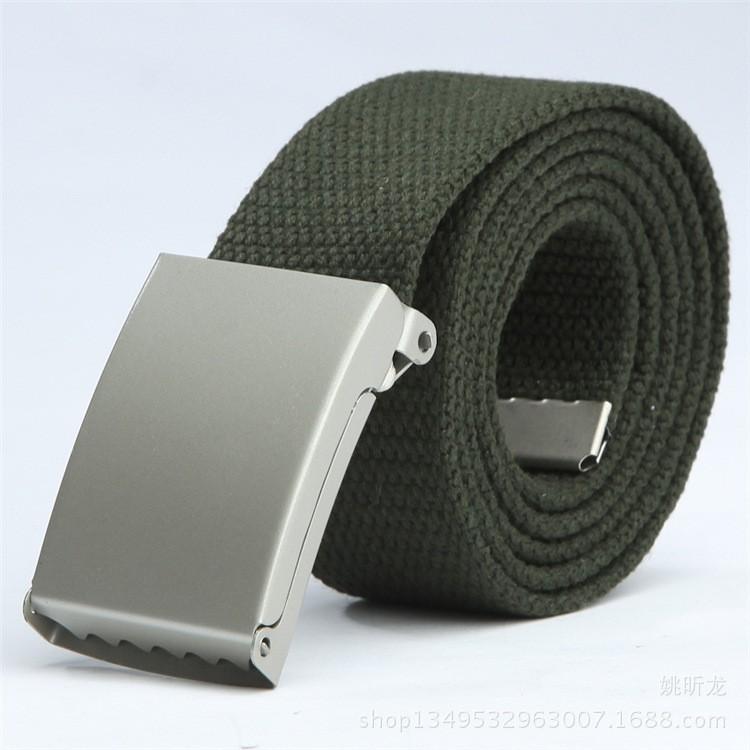 Thắt lưng vải bố khóa bằng kim loại FA2S148 (Xanh Rêu)