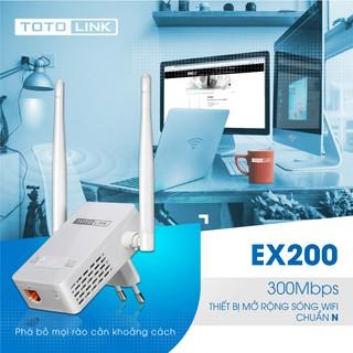 [Mã ELCLXU8 hoàn 150k xu đơn 500k] Mở rộng sóng Wi-Fi chuẩn N 300Mbps – EX200 – TOTOLINK