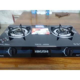 [CHÍNH HÃNG] bếp gas đôi kính cao cấp HIKUSHI  KS-68