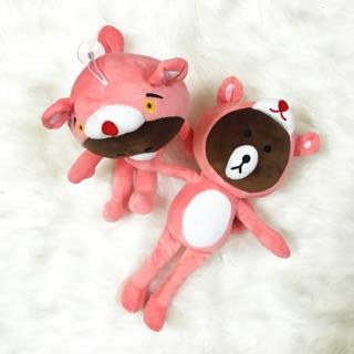 Thú bông gấu Brown LINE X Pink Panther