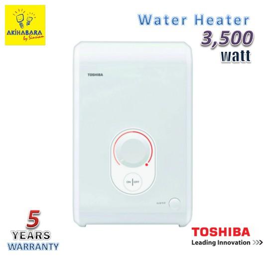 **ลดเพิ่ม 80.- สำหรับลูกค้าใหม่เพียงใช้โค๊ด SINS0000 ** WH3511G (NW) เครื่องทำน้ำอุ่น TOSHIBA ขนาด 3500 วัตต์