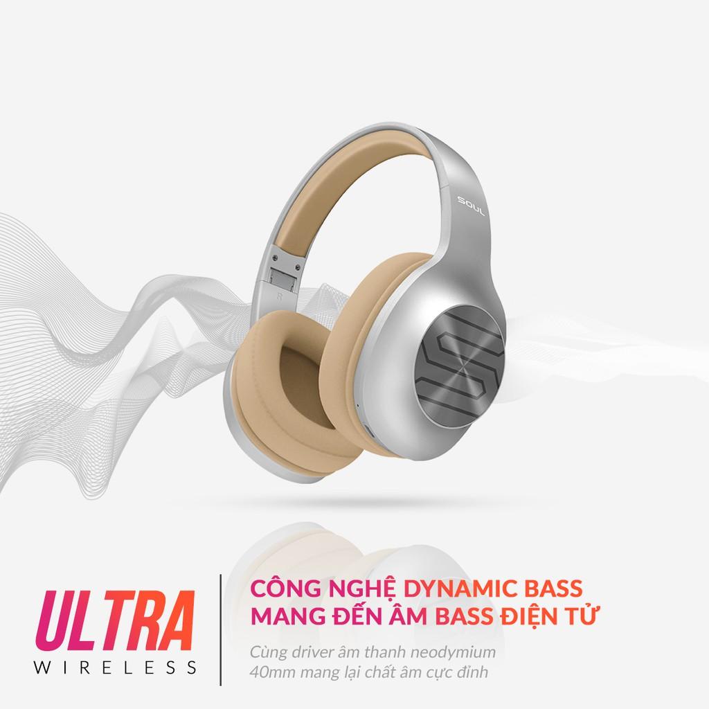 [Mã SOULSU200 giảm 200K] Tai Nghe Bluetooth Chụp Tai Soul Ultra Wireless Dynamic Bass - 36H Nghe Nhạc - Hàng Chính Hãng