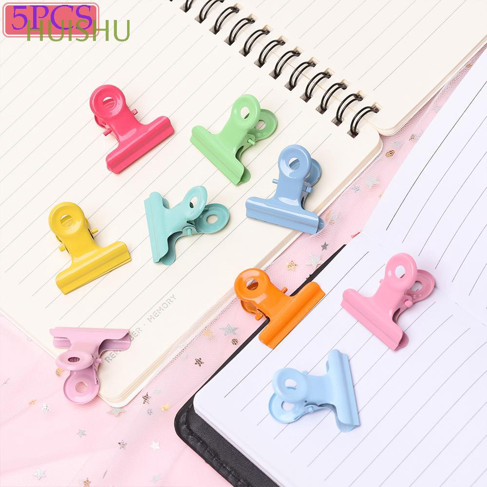 5pcs Metal Multifunction Decoration Candy colors Office Stationery Sealing Clips