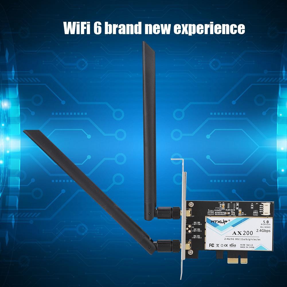 For Intel AX200NGW 802 11ax WiFi6 2400M PCI-E Desktop Wireless