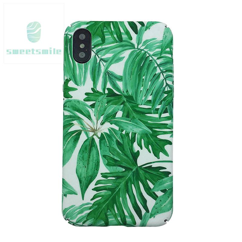 SW♥ Mobile Phone Case Cover Leaves Pattern Compatible OPPO R9 R9S R11 A77 A59 A57