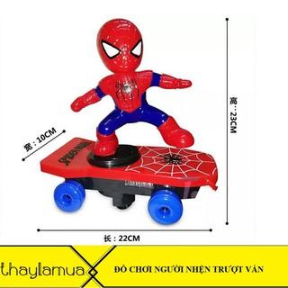 Combo 5 bộ đồ chơi người nhện lướt ván cao cấp có thể xoay vòng 360 độ