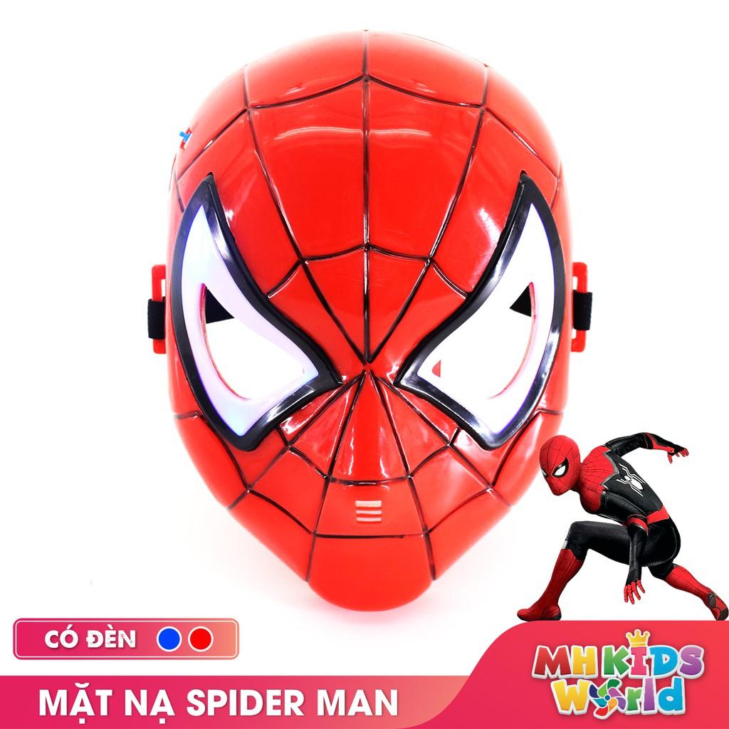Mặt nạ hóa trang Spider Man đồ chơi hóa trang Avengers Cosplay Halloween sinh nhật cho trẻ em lứa tuổi 3+ nhựa an toàn