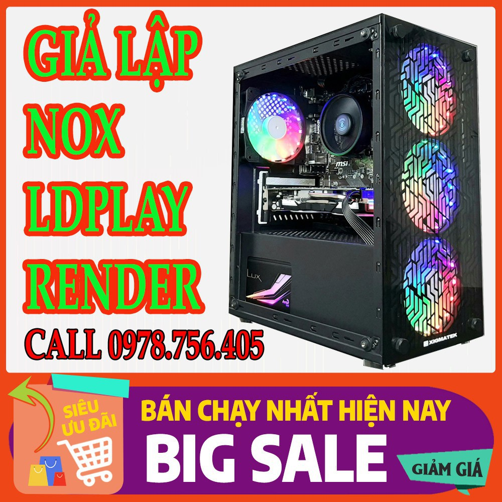 Bảng giá BỘ PC WORKSTATION XEON E5-2673v3 / 32GB / VGA GTX 1050 Phong Vũ
