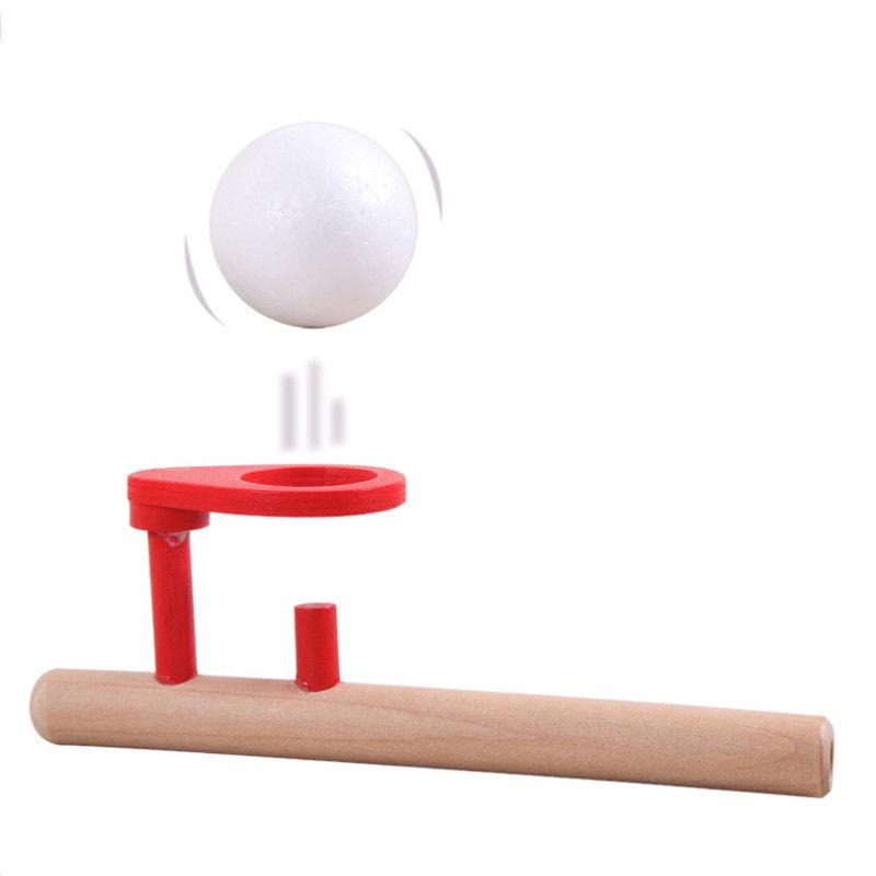 Blowing Balance Floating Wooden Flute Ball Fun Toys Educational Toy For Children