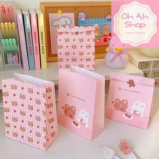 Túi giấy gói quà đáy đứng hình gấu thỏ siêu dễ thương thumbnail