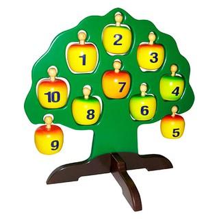 Đồ chơi gỗ Cây Táo Học Chữ Và Số