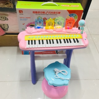 Đàn PIANO cho bé gái loại to 70cm có ghế ngồi