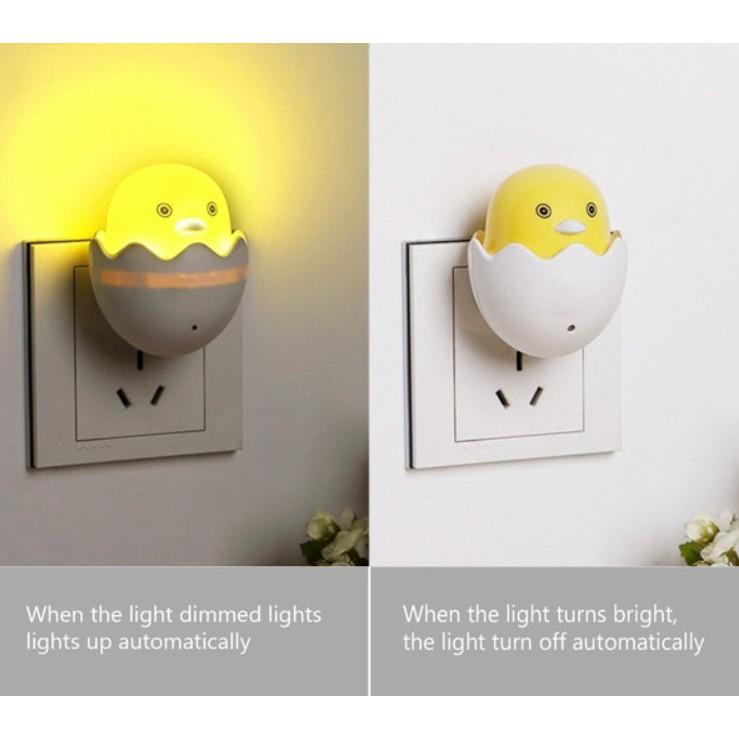 Đèn Ngủ Cảm Ứng Gà Con Mới Nở Dễ Thương - Đèn Ngủ Thông Minh Để Đầu Giường Duashop