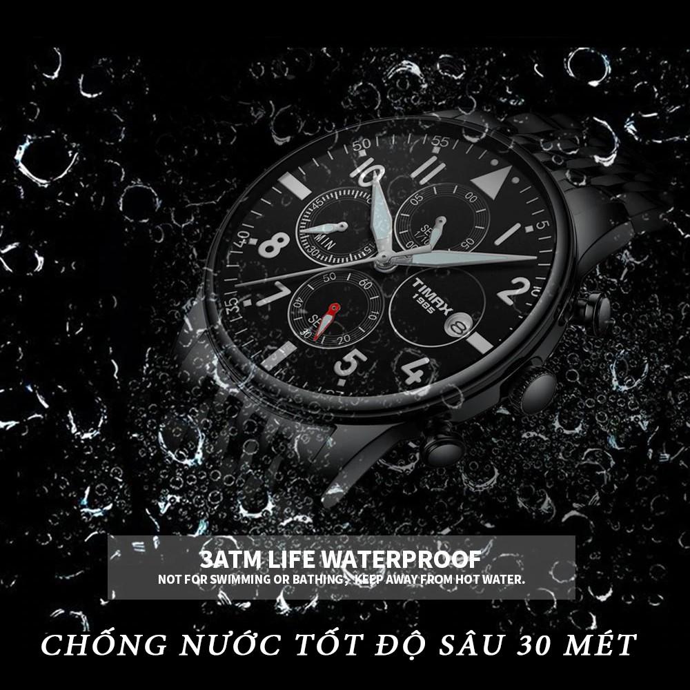 Đồng Hồ Nam TIMAX NHẬT BẢN Có lịch ngày - Chống Nước Tốt