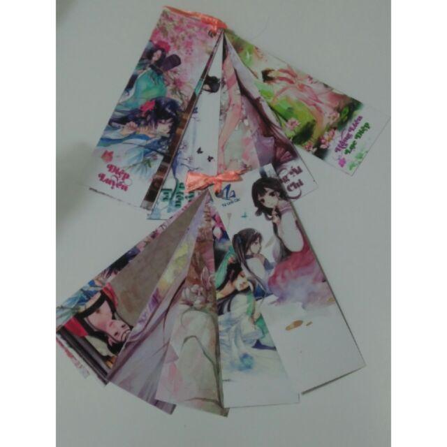 Bookmark Bách hợp 2 mặt, 6 chiếc