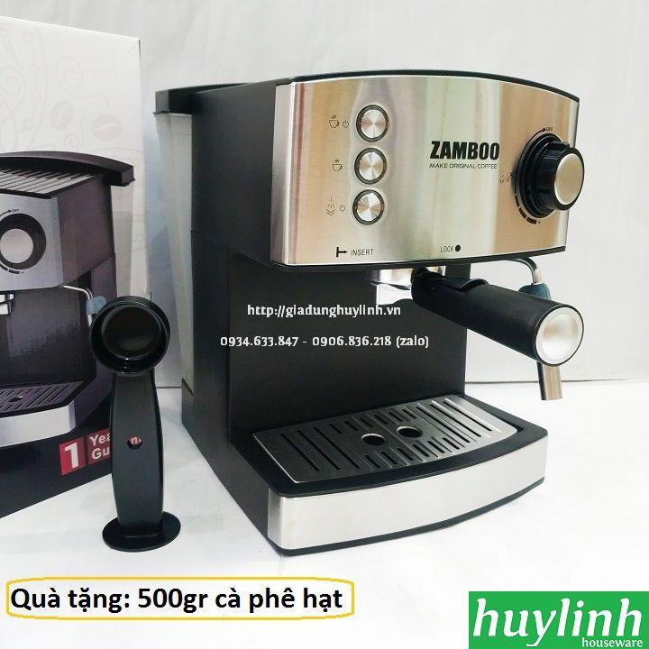 [ELHACOIN02 giảm tối đa 300K xu] [Freeship] Máy pha cà phê Zamboo ZB-88CF - Tặng 250 gram cà phê