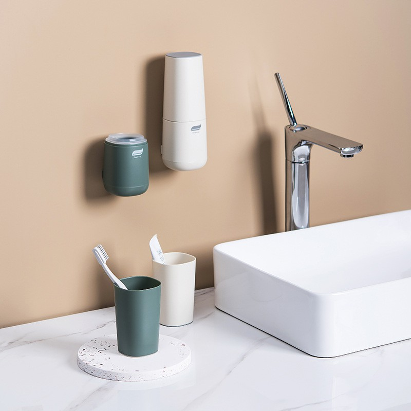 Rack toothbrush holder toothbrush cup storage box multi-function cup wall hanging