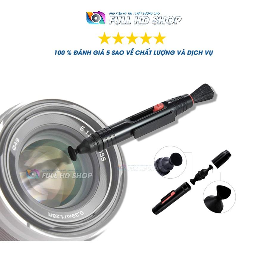 Bút lau ống kính 3 trong 1 - Vệ sinh ống kính máy ảnh , máy quay - Full HD Shop
