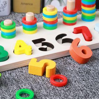 bảng gỗ ghép chữ ghép hình đồ chơi sáng tạo, trí tuệ cho bé