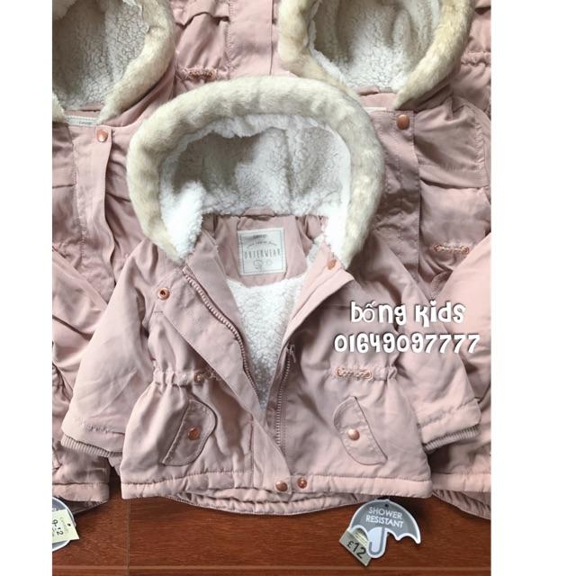 Áo Khoác Parka Bé Gái Lót Lông Cừu Hồng Nude George - 3317786 , 667447521 , 322_667447521 , 245000 , Ao-Khoac-Parka-Be-Gai-Lot-Long-Cuu-Hong-Nude-George-322_667447521 , shopee.vn , Áo Khoác Parka Bé Gái Lót Lông Cừu Hồng Nude George