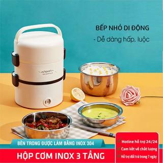 Hộp cơm cắm điện   Hộp cơm hâm nóng cho dân Văn Phòng   Nối nấu mini đa năng Inox